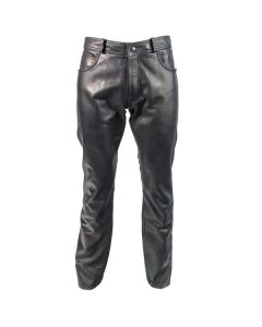 Richa Classic  Regular Fit Leather Trousers Black